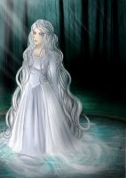 The Silver Lady//Celebrian by soshi185