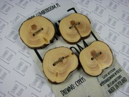 Set of 4 Cypress Buttons, reclaimed wood by LumberRoom