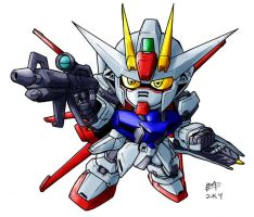 SD Air Strike Gundam by Mintyrobo