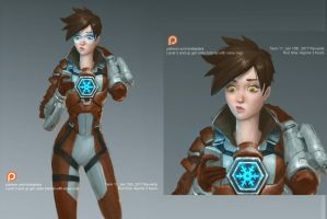 Overwatch Tracer winter suit by XiaTaptara