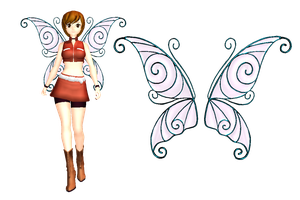 MMD Sherie Fairy Wings DL by 2234083174