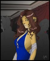 Lady in Blue by Thally