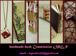 Handmade book Commission Open by shirua
