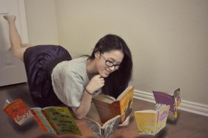 Getting Lost in the Fantasy Within Books by AnhPho