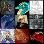 My face versus a bunch of dragons by Lucieniibi