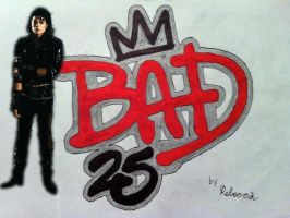 Bad 25 Tracing with Michael Sticker by 80sGirl1996