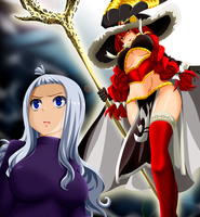 Mirajane / Eileen encounter // Fairy tail 492 by Mirajanee