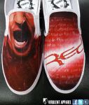 Red - End of Silence shoes by VirulentApparel