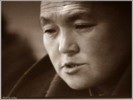 Tibetan priest by Iuliaq