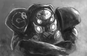 Raynor Jim Sketchpaint by Raikoh-illust