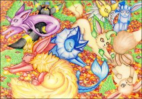 Eevee evolutions by stray-life