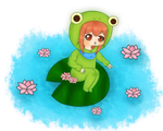 Floating Froggie by Adorkable202