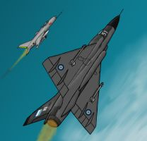 Mirage III vs MiG-21 F-13 by PatchKatz