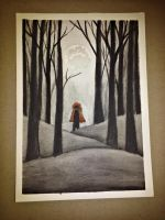 She ran out in the woods by AuntieCea