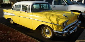 Yellow '57 Chevy Bel Air by Calypso1977