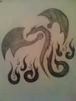 Dragon Tattoo Design by Tailef