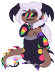 White hair, bat wings, rainbows, and freckles o my by Elevera