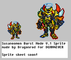 Susanoomon Burst Mode Sprite by dragonrod342