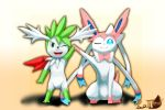 Shaymin and Sylveon by Coffee-Ratteu
