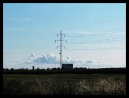 Wires and clouds by nadda1984