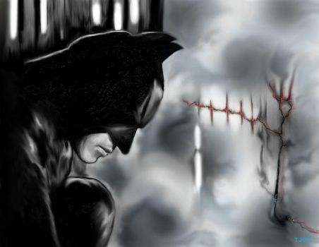 I (Heart) the Darkness : Batman by ToniMariaAli