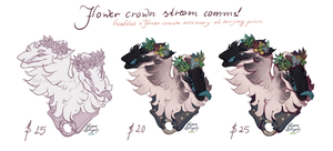 Stream commissions: Flower crown headshots! by 5019