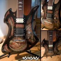 siXsiXsiX electric guitar by dertrickzer