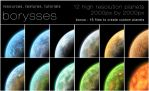 12 High resolution planets by borysses