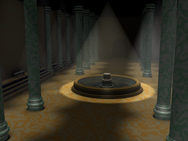 Hall of Pillars WIP 2 by carlfoxmarten