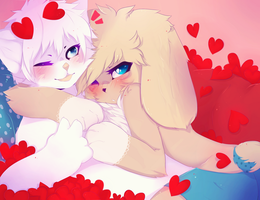 who need valentine when i have a bunnyboy? by anzujaamu