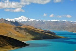 Turquoise Lake, Tibet by fosspathei