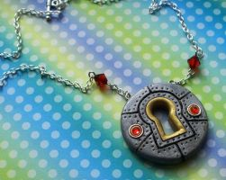 Steampunk Keyhole Necklace2 by CraftMagic