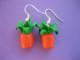 Pineapple Earrings by ClayMyDay