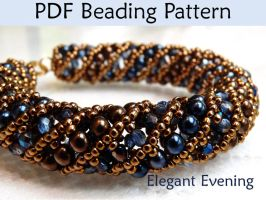 Netted Stitch Tubular Spiral Beading Pattern by SimpleBeadPatterns