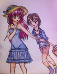 Lucy and Aiko by Stberrylove