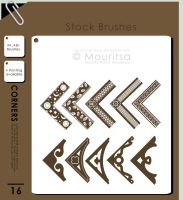 Brush Pack - Corners by MouritsaDA-Stock