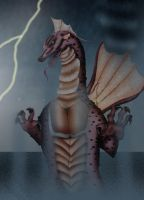 Lord of the Typhoon - Titanosaurus by Adiraiju