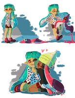 Squid GFs by PastelWing