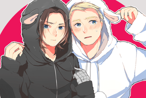Captain america and Winter soldier by emusuke