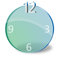 dock clock icon by jvsamonte