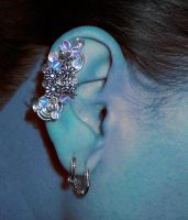 Flower earcuff by inspiracreations