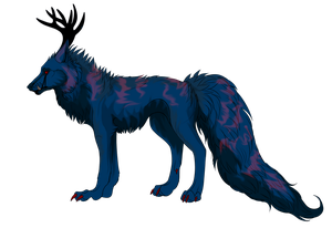 Lineart Coloring - kahlawolf by Ninelyn