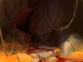 Sinister cave - Speedpaint by Wildweasel339