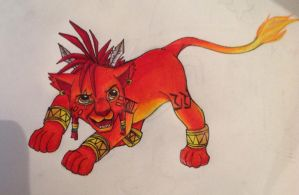 Red XIII - Disney style by Kajm15496Green