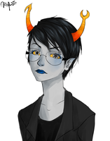 vriska short hair by wolphie35