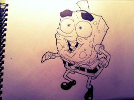 Sketch: Spongebob by HughFreeman