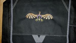 Griffon Kingdom Embroidered Bag by EthePony