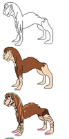 Desert Chaser pixel creation phases by Yarnipper
