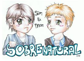Sam and Dean Winchester by Mrs-Motherfucker