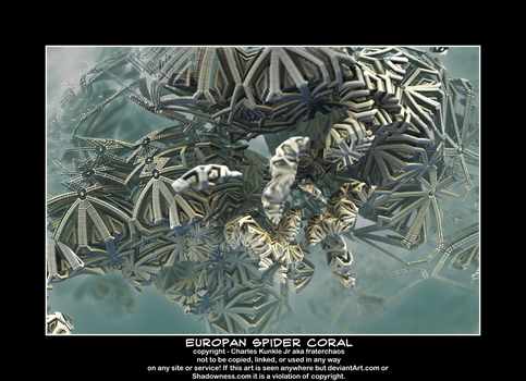 europan spider coral by fraterchaos